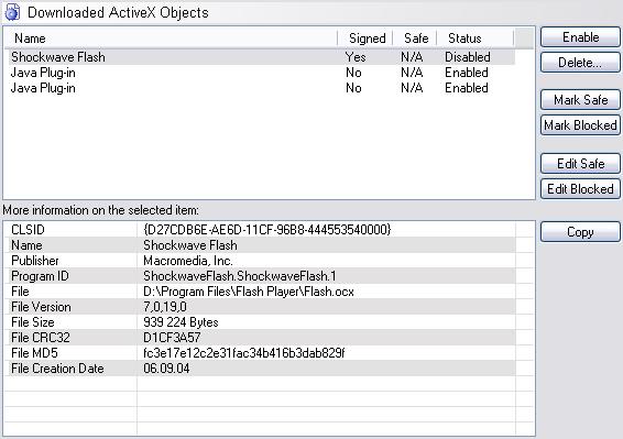ActiveX - Browser Sentinel User's Manual