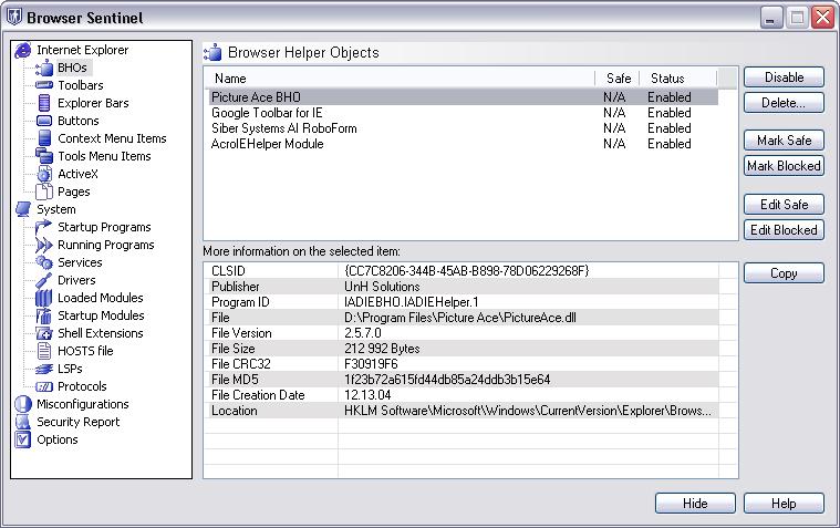 Browser Sentinel full screenshot